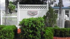Pinecrest entrance sign